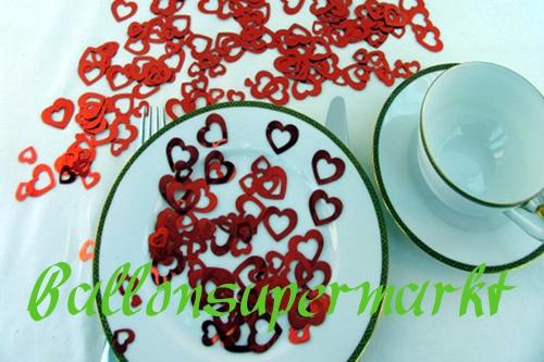 Rote Herzen in 3 verschiedenen Größen